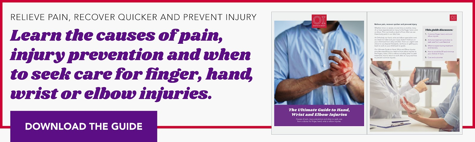 Relieve pain from hand, wrist or elbow injuries