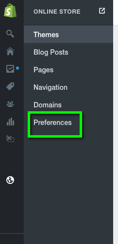 Then click Preferences.