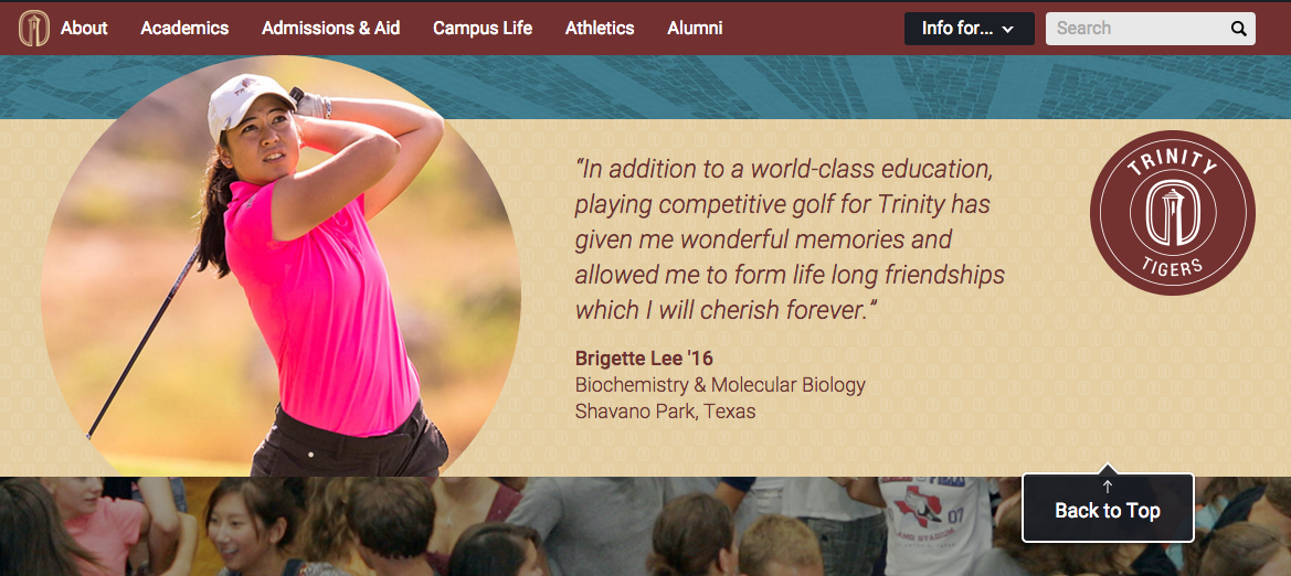 Trinity University Tigers Golf Program