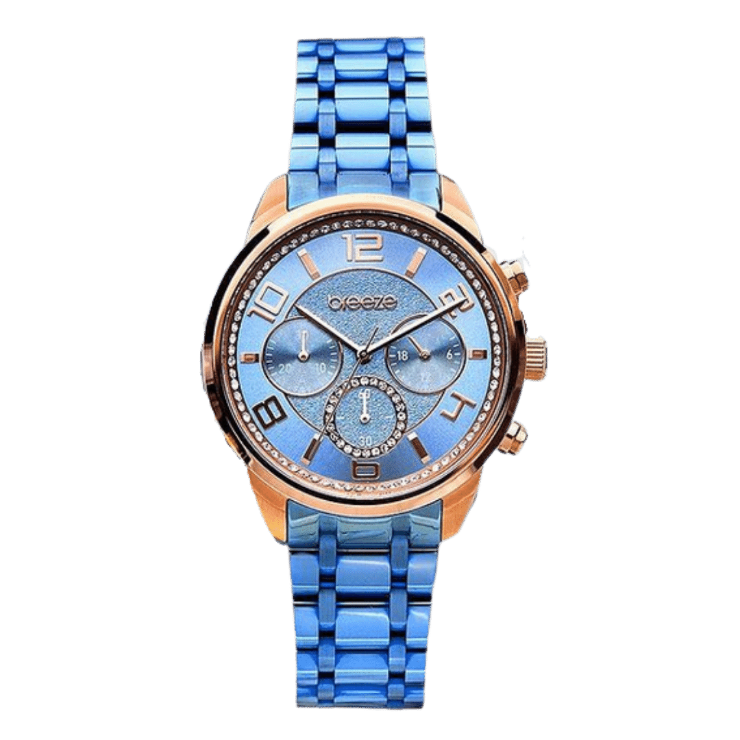 Photo of a Breeze bright blue watch