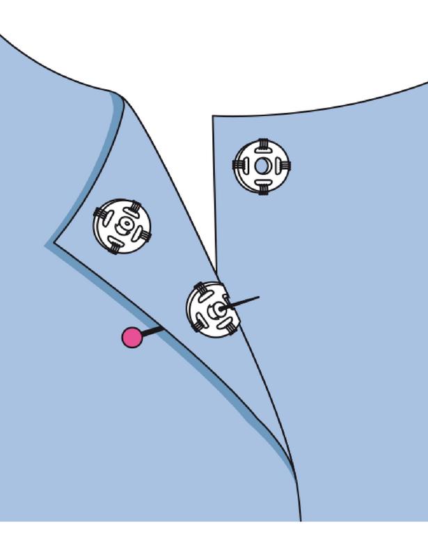 Önce, düğmenin merkezini dikeceğiniz yere işaretleyin