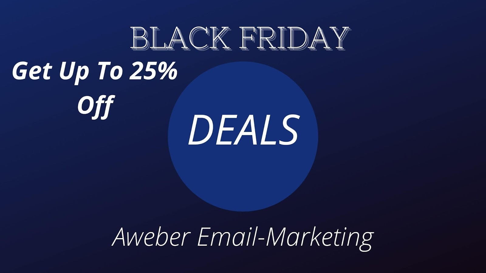 Aweber: Grab 25% off