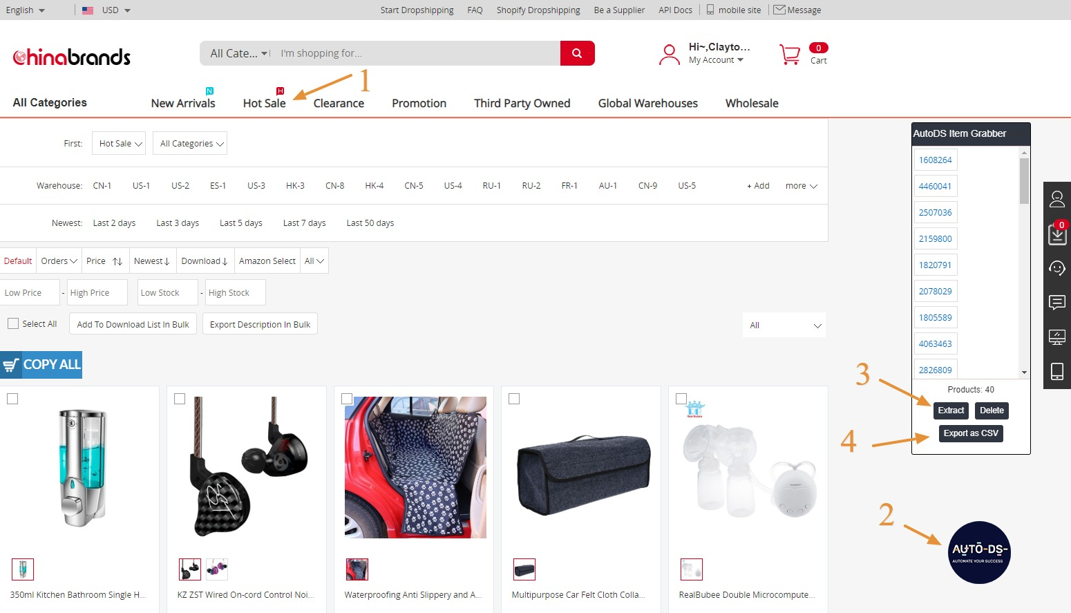 How to find products to dropship from Chinabrands