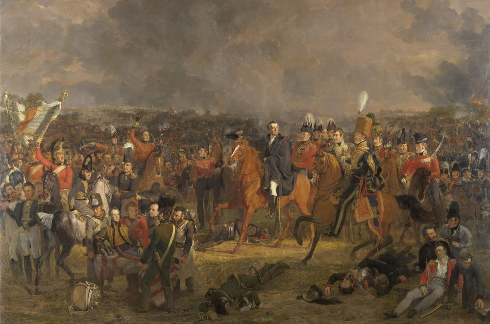 The Battle of Waterloo by Jan Willem Pieneman is the largest painting in the Rijksmuseum, and on if its most famous highlights.