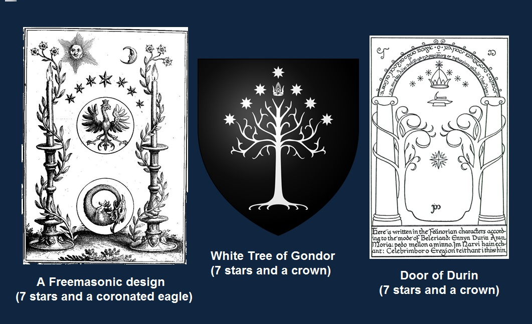 Magical Door of Durin and Royal Arch masonic designs Gondor 7 stars and crown.jpg