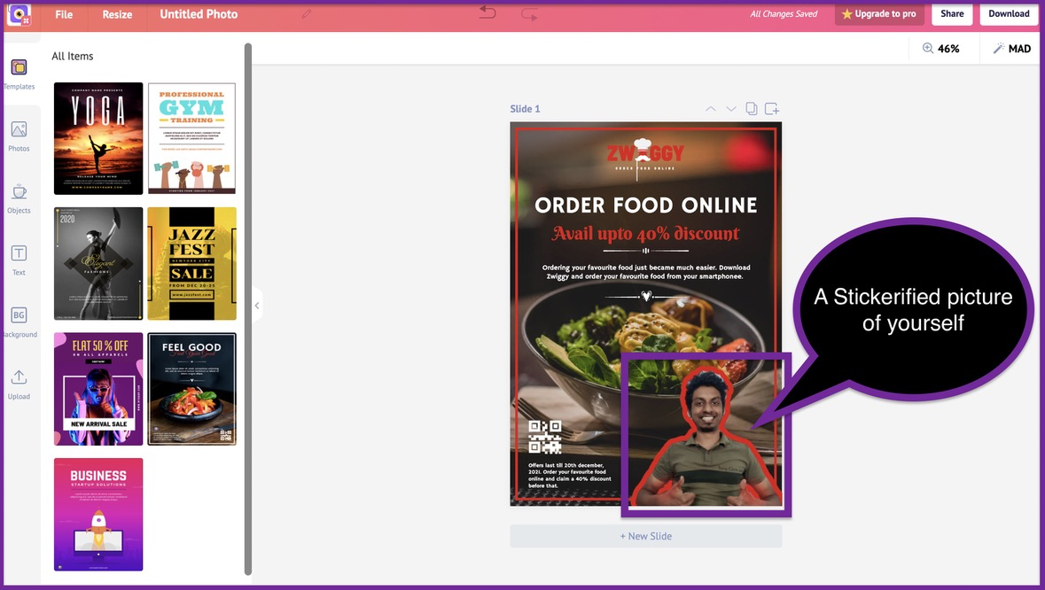 How to create a business flyer - step 7 -screenshot 5
