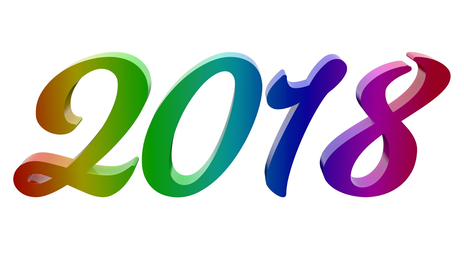 2018 New Year Number Illustration Free Stock Photo - Public Domain ...