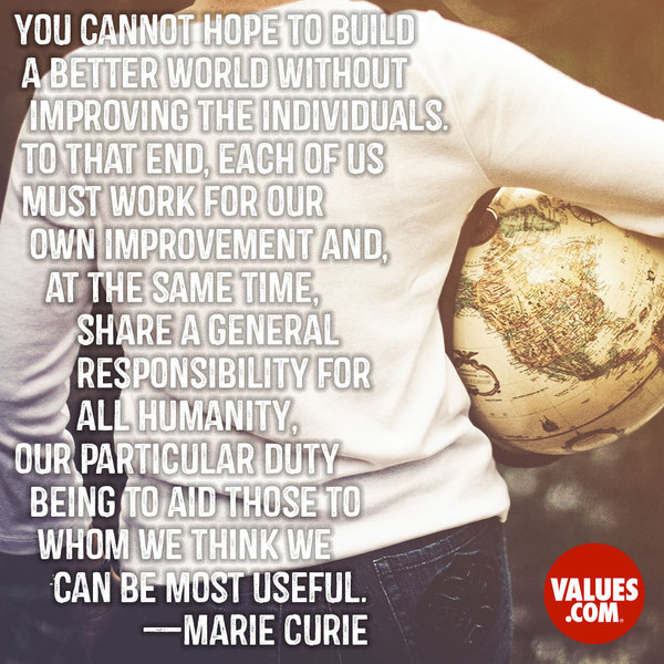 An inspiring quote about #volunteering from www.values.com #dailyquote #passiton