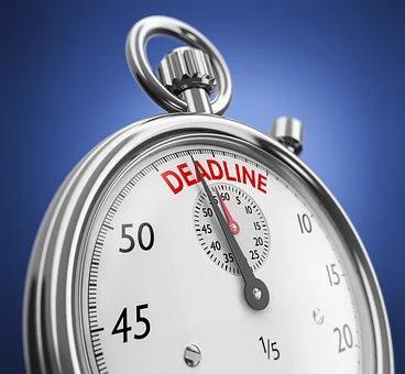 be patient, clock with deadline