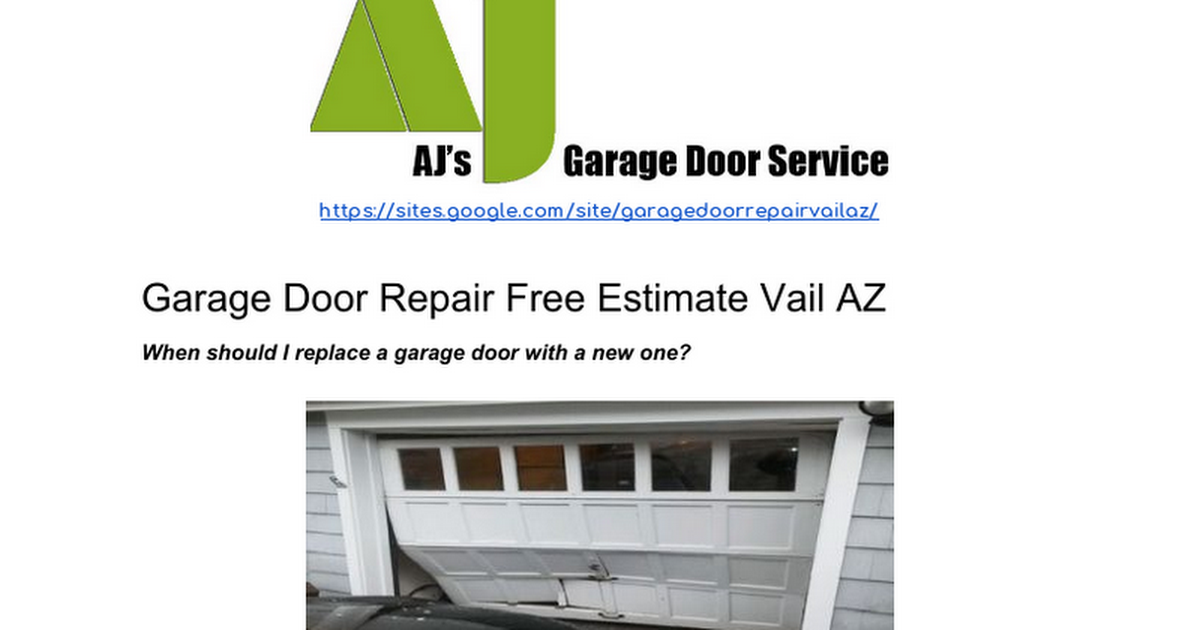 Garage Door Repair Free Estimate Vail Az Google Docs