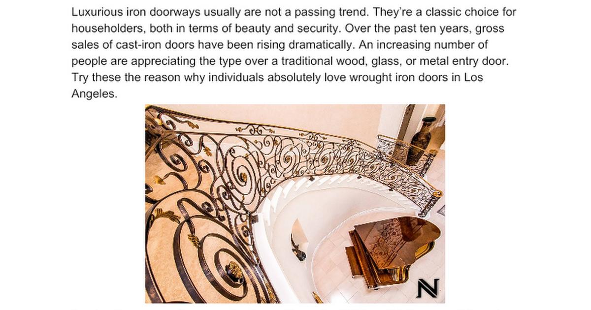Custom Wrought Iron Doors for Dummies