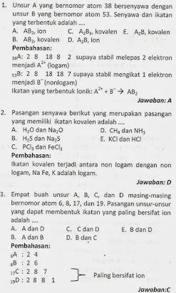 Soal Essay Kimia Kelas X Beserta Jawaban