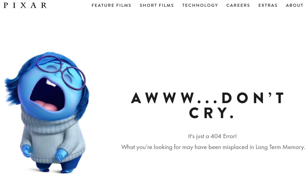 Используйте образы известных персонажей при оформлении 404 ошибки