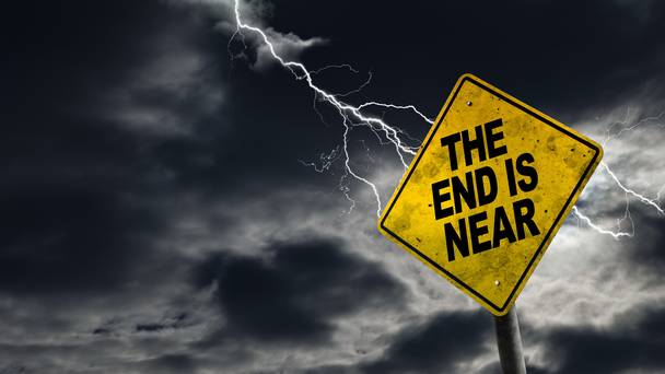 Image result for the end is near sign