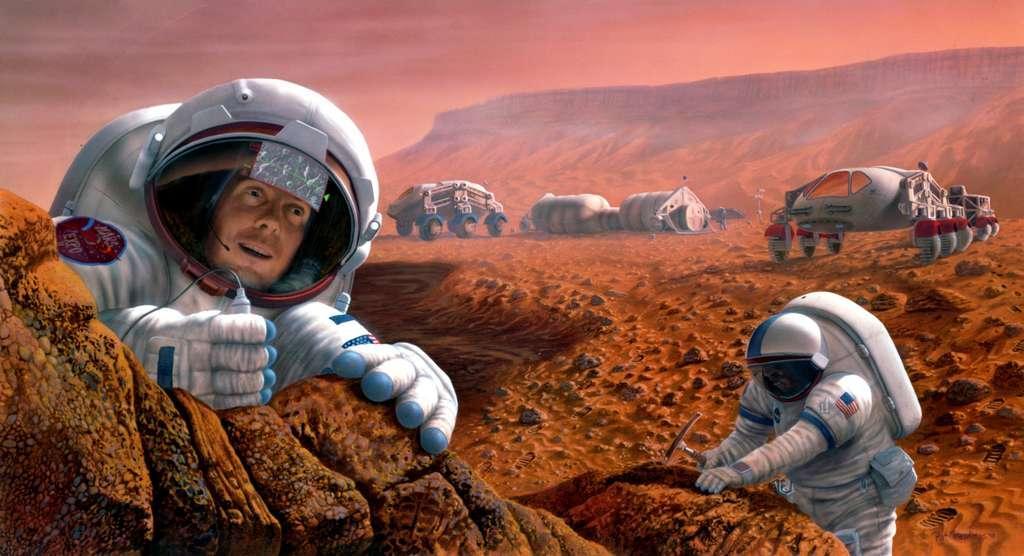 Une mission humaine sur Mars nécessitera de grandes quantités d'air, d'eau et de nourriture. Faire pousser des légumes sur place serait un bon moyen de réduire la charge utile au décollage et aussi d'offrir des produits frais à ces voyageurs au long cours. © Nasa, Johnson Space Center