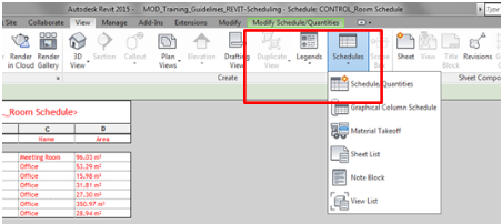 Scheduling Models - Operation in Revit - Modelical