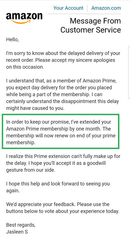 amazon apology