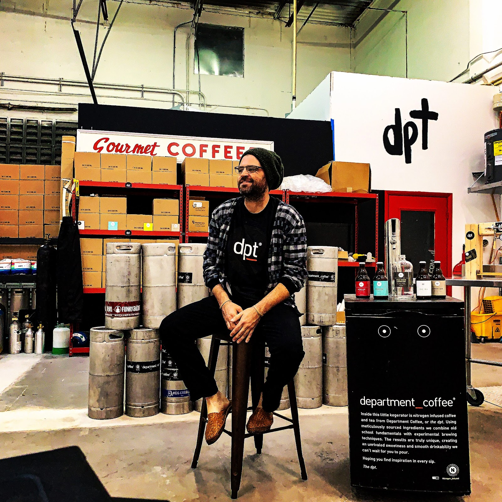 Eric Boudreaux, founder of Department Coffee.