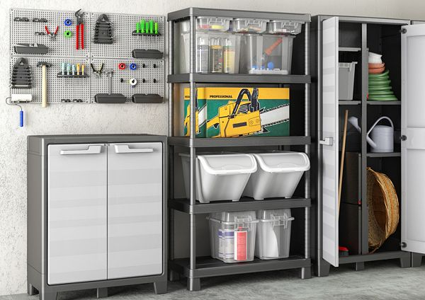 an image of an organized garage space