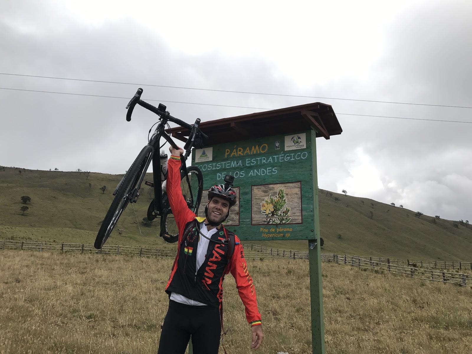 Finish of Alto de Letras road bike climb