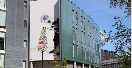 street art på Camos kontorbygning