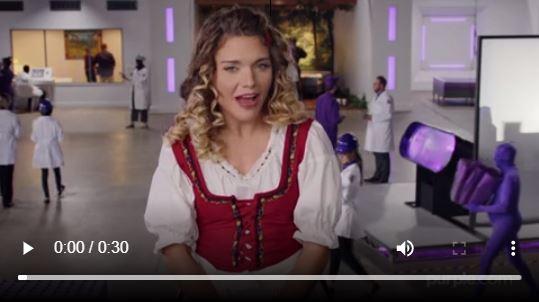 Purple mattress video ad