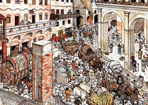 Resultado de imagen para trafico en la antigua roma