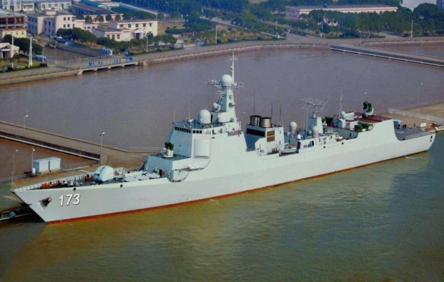 People's Liberation Army Navy guided missile Type 52D Luyang III destroyer Changsha. The ship is reported to field a radar that could detect U.S. stealth fighters.