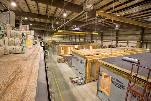 Warehouse building modular homes