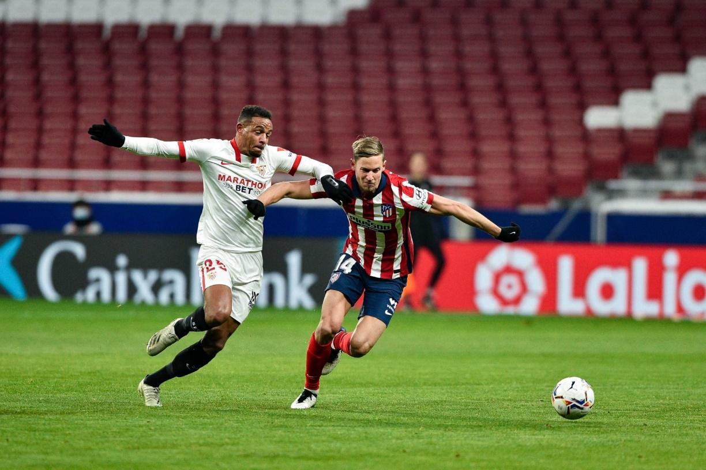 Sevilla từng thua Atletico Madrid 0-2 ở trận lượt đi mùa này.