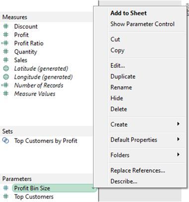 Show Parameter Control