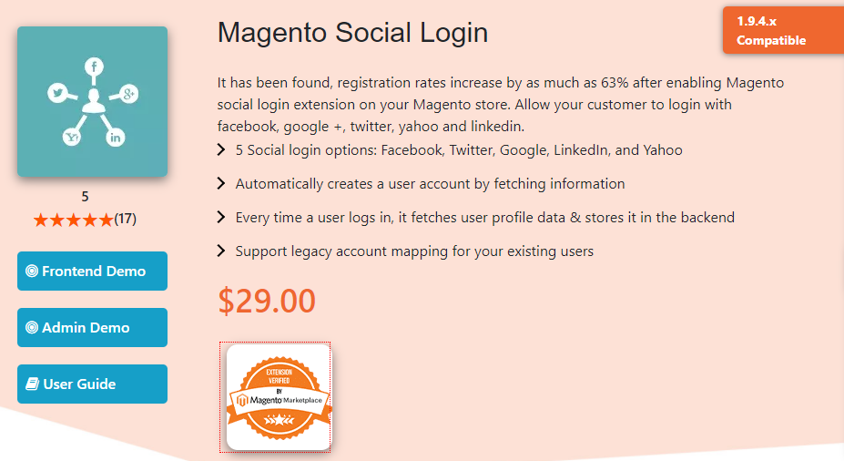 Magento Social Login by Magecomp