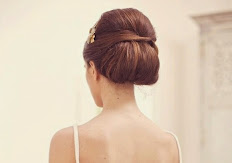 bouffant chignon hair
