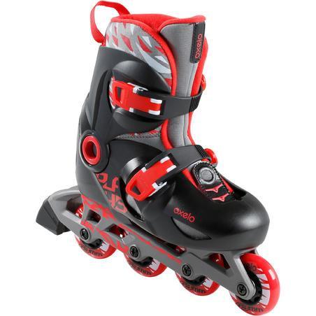 Play 5 Kids' Skates - Red/Black - Decathlon