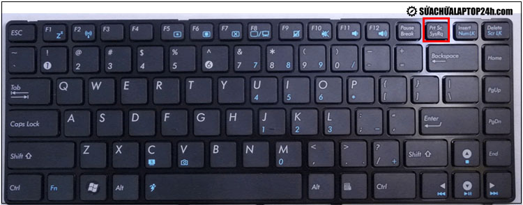Phím Print Screen trên bàn phím laptop