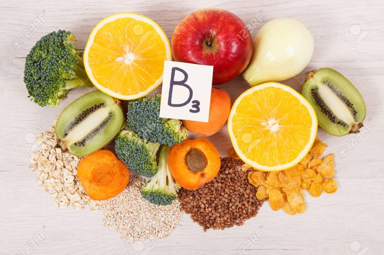 Nutritious Ingredients And Products Containing Vitamin B3 And.. Stock  Photo, Picture And Royalty Free Image. Image 116125462.