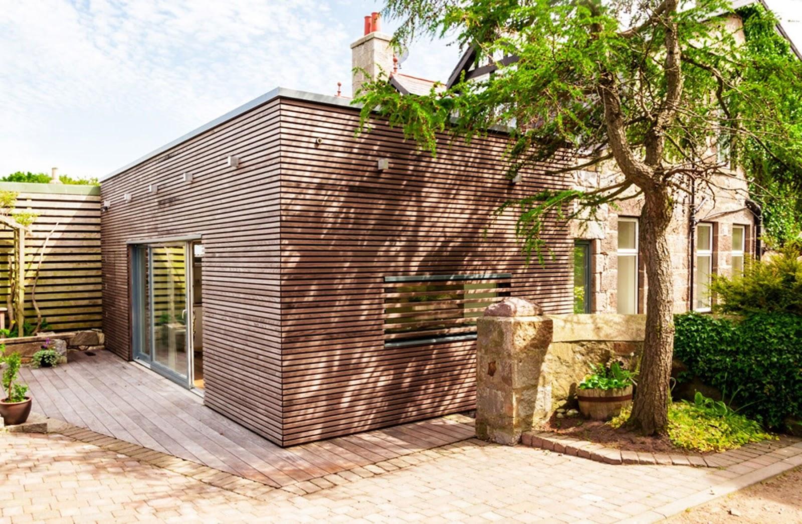 terrassedæk og hus i samme materialer