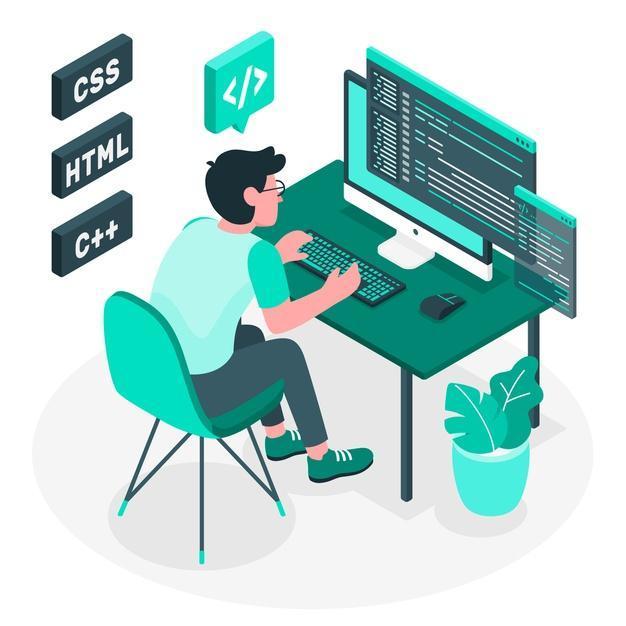 Illustration de concept de programmation Vecteur gratuit