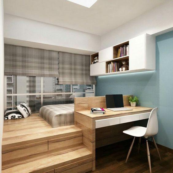 Phòng làm việc đặt phòng ngủ trong không gian nhỏ gọn