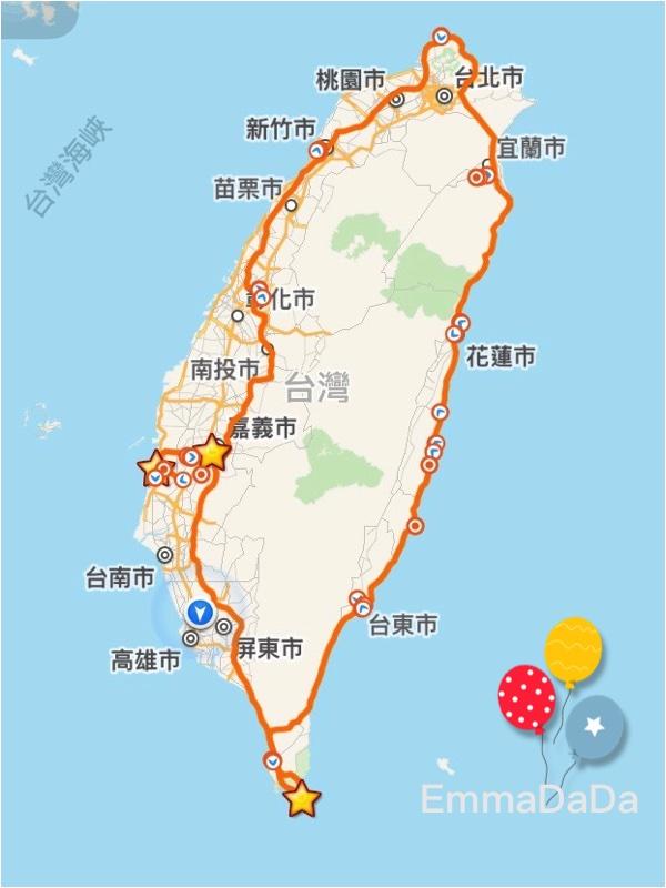 Emma環島路徑圖