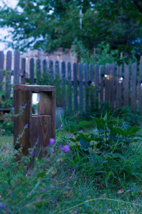 DIY solar lamp made from wood pallets