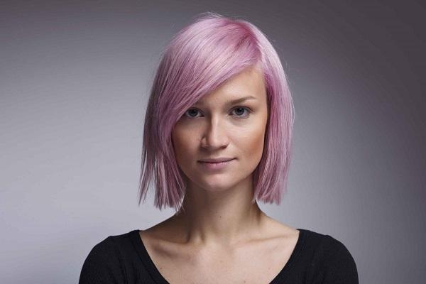 стойкая розовая краска для волос