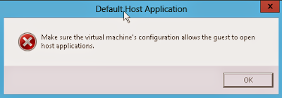 Error Default Host Application