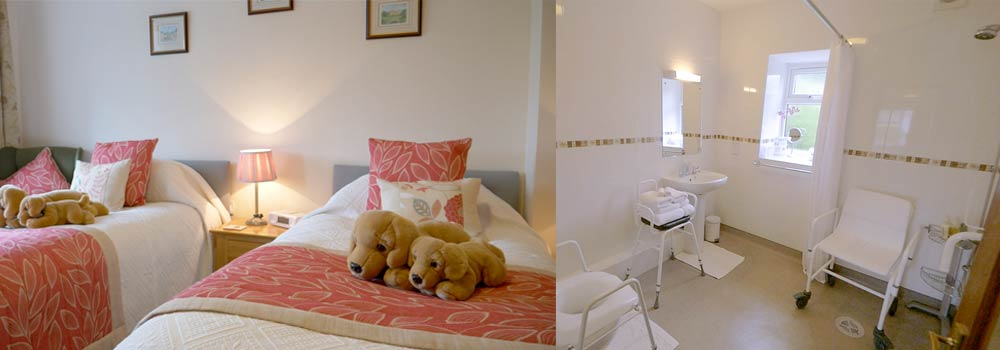Photos of Swallow room, a disability friendly room at West Down Guest House