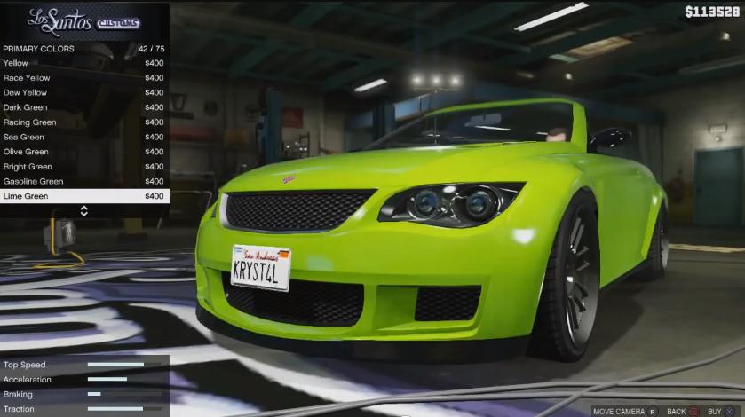 Tuning menu in GTA 5