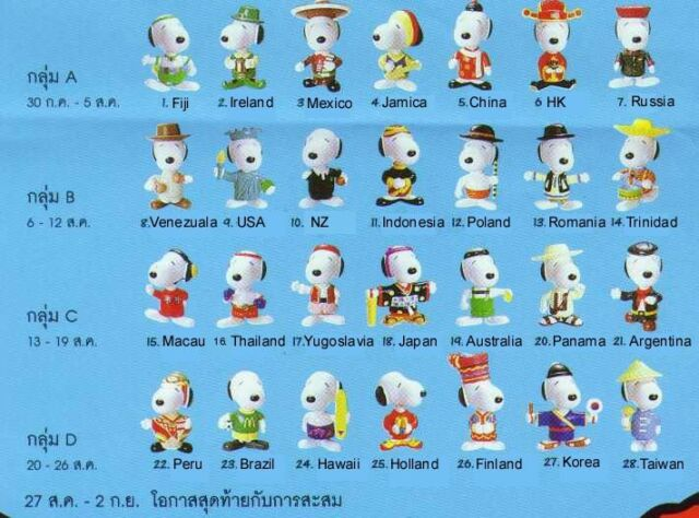 McDONALDS Snoopy World Tour 2 MACAU Toy Kids MINT 1999 Collect