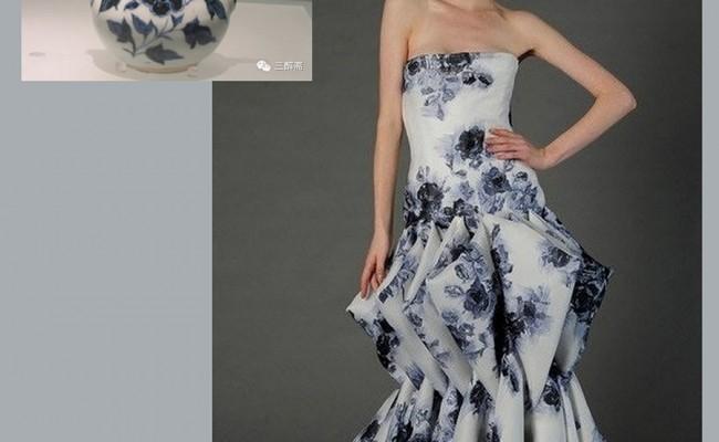 Những mẫu thiết kế thời trang lấy cảm hứng từ bình hoa, đĩa sứ và ấm trà.6