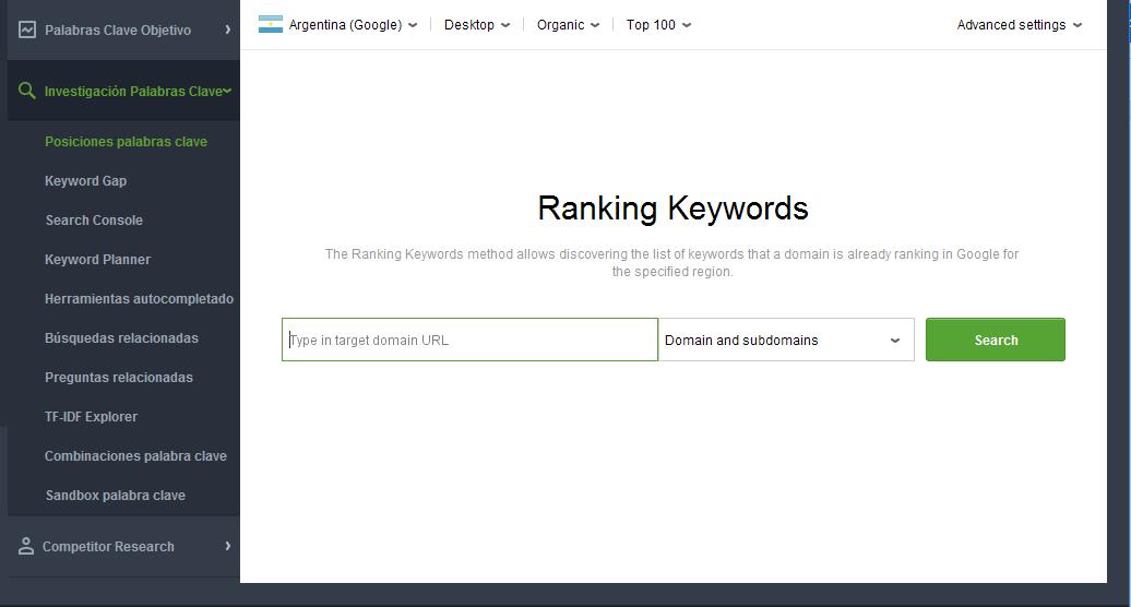 Optimización de contenidos - Posición de palabras clave