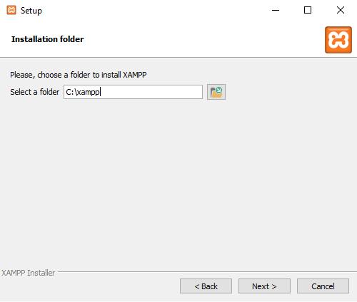 install xampp in xampp folder