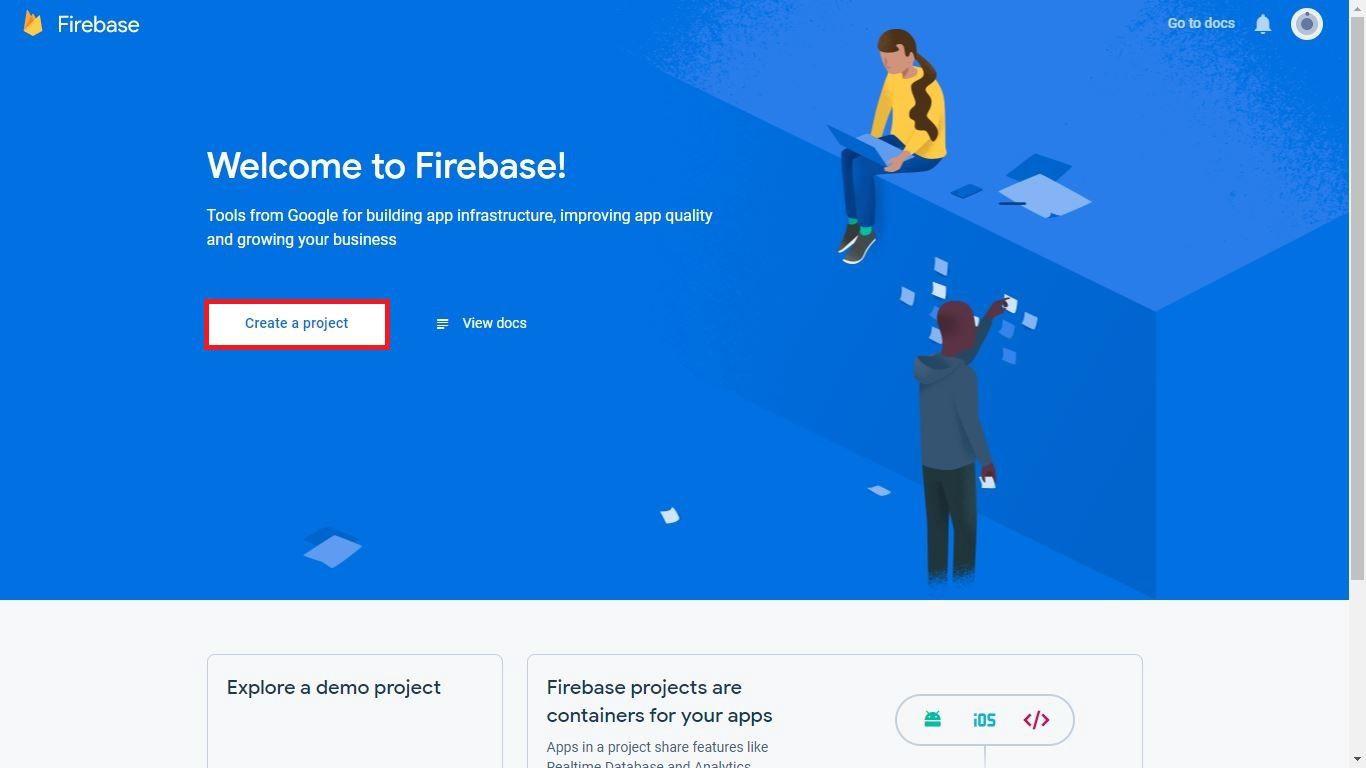 Setup The Firebase Console